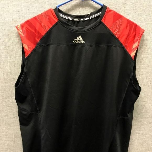 świetna jakość różne wzornictwo nowy produkt Adidas Black & Red 3XL Workout Tank Top